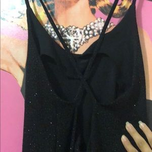 Long black glittery dress